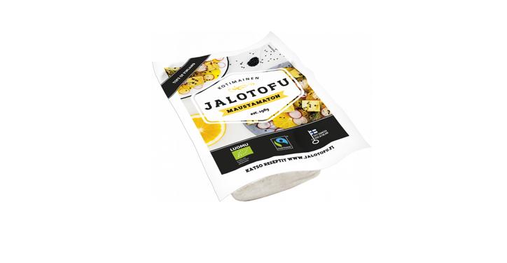 Aurinkosähköllä valmistettu maustamaton Jalotofu rajattu